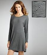 Modern Comfort Striped Sleepshirt Plus Size Sleepw