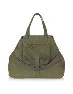 Billy Large Olive Green Goatskin Tote