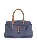 Rivage Blue Cotton and Leather Tote