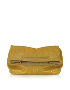 Yves Gold Metallic Leather Tote