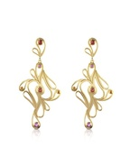 Mari Splash Silver Vermeil Drop Earrings
