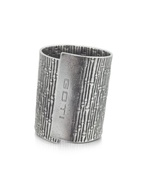 Large Textured Tin Cuff Bracelet