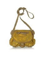 Twee Mini Gold Leather Shoulder Bag