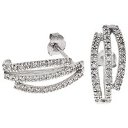 Stanley Creations 10K White Gold Earrings - Diamon