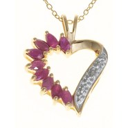 Prime Art Marquise Heart Pendant Necklace - 18K Go