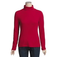 Cotton Shaped-Fit Turtleneck - Long Sleeve (For Wo