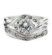 CZ Solitaire Ring and Band Set