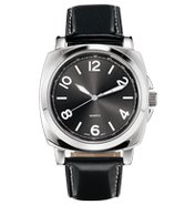 Men's Gunmetal Dial Strap Watch