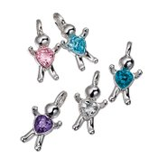 CZ Birthstone Colored Baby Hugs Charms