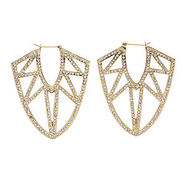 Pave Femme Fatale Earrings, Gold, 1 ea