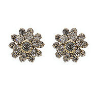 Crystal Burst Earrings, Gold, Crystal, 1 ea