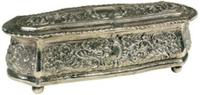 Antique Silver Jewelry Box (J3604)