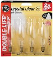Blunt-Tip 25 Watt Candelabra Base 4-Pack Light Bul