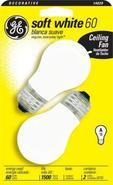 60 Watt 2-Pack Ceiling Fan Light Bulbs (14029)