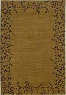 Cherry Blossom Border Gold 6&#39; 7 x9&#39; 6  Area Rug (3
