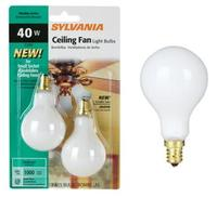 White 2-Pack 40 Watt A15 Candle Base Fan Light Bul
