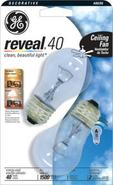 Reveal Clear 40 Watt 2-Pack Ceiling Fan Light Bulb