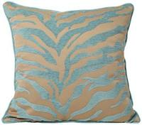 Teal and Beige Tiger Pattern 18  Decorative Surya 