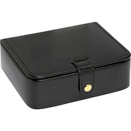 Leather Stud/Ring Box Black - Budd Leather Busines
