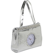 Metallic Tick Tock Tote Bag - Tote