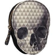 Pyramid Skull Coin Bag Grey/Black - Loungefly Ladi