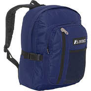 Backpack with Front Mesh Pocket - Navy/Black