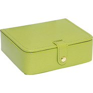 Lizard Print Calf Stud/Ring Box Lime Green - Budd