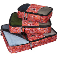 Packing Cubes - 3pc Set Red Paisley - eBags Packin