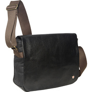 Sheridan Waxed Shoulder Bag (M) Black - TOKEN Men'