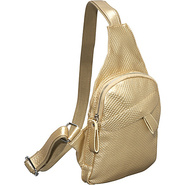 Textured Mini Messenger Bag - Gold