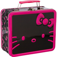 Hello Kitty Giant Black/Pink Face Lunchbox Black/P