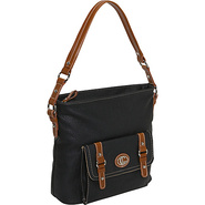 Waxy Pebble Contrast Crossbody - Cross Body