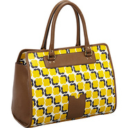 Floating Flower Print Ella Bag Sun Yellow - Orla K