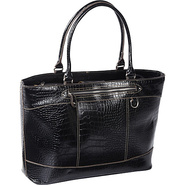 Exotic Triston Laptop Tote Black - Sorella New Yor
