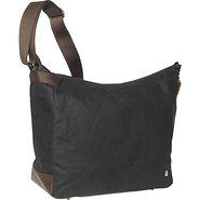 Riverside Waxed Shoulder Bag Black - TOKEN Fabric