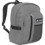 Backpack with Front Mesh Pocket - Gray/Black