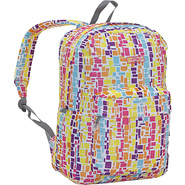 Ivy Backpack - Squares Neon