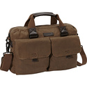 Essex Briefcase Khaki - Andrew Marc Non-Wheeled Bu