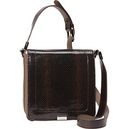 Harper Flap Crossbody Truffle - B. Makowsky Leathe
