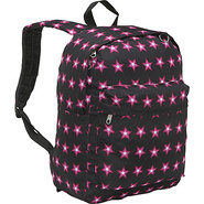 Pattern Printed Backpack - Multi-Star Printed