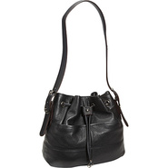 Luck of the Draw Drawstring Hobo Black - Tignanell