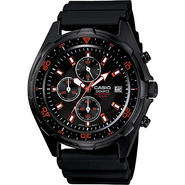 Men's Black Analog Multi-Function Watch Black - Ca