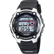 Men&#39;s Atomic Timekeeping Sport Watch Black - Casio