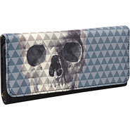 Pyramid Skull Wallet Grey/Black - Loungefly Ladies