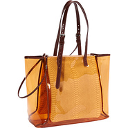 Glossy Corinna E/W Shopper Clementine - Foley + Co