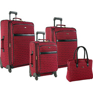 Revolution 4 Piece Luggage Set Burgundy - Pierre C