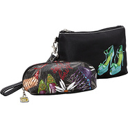 Head Over Heels-Embroidered Wristlet & Mini Cosmet