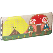 Crowded Teeth Mushroom Wallet Tan with Colored Det