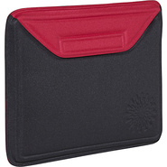 Molded Sleeve for iPad - Sunburst - Black-Red