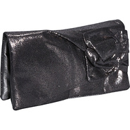 Metallic Evening Clutch Wallet - Silver
